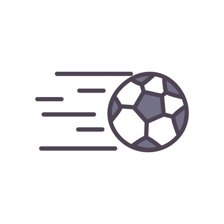 Ball line and fill style icon design, Soccer football sport hobby competition and game theme Vector illustration Vettoriali