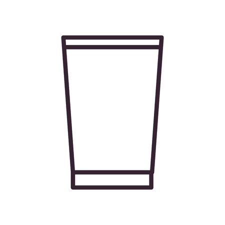 Beer glass line style icon design, Pub alcohol bar brewery drink ale and lager theme Vector illustration Ilustracja