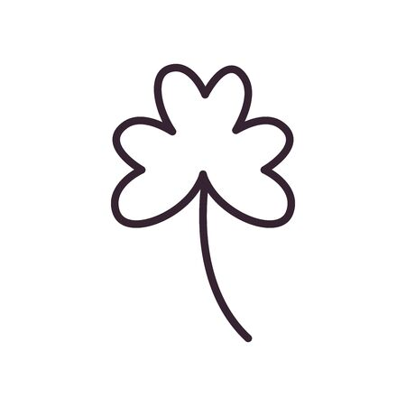 Isolated clover leaf line style icon design of Floral nature plant garden ornament botany decoration and life theme Vector illustration Vectores