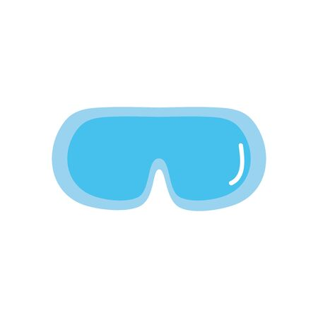 snorkel goggles icon over white background, flat style, vector illustration