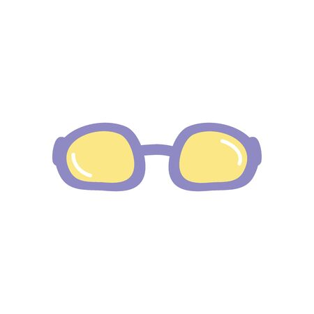 pool goggles icon over white background, flat style, vector illustration 向量圖像