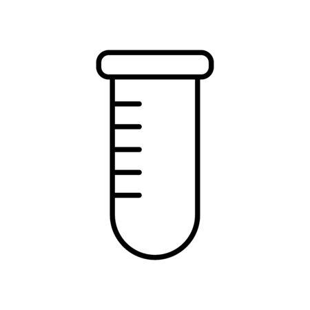 test tube icon over white background, line style, vector illustration Banco de Imagens - 150207822