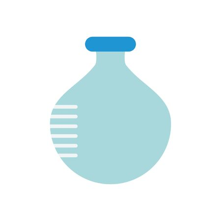 chemical round flask icon over white background, flat style, vector illustration