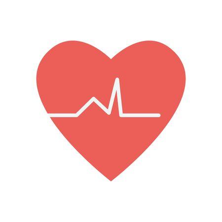 cardio heart icon over white background
