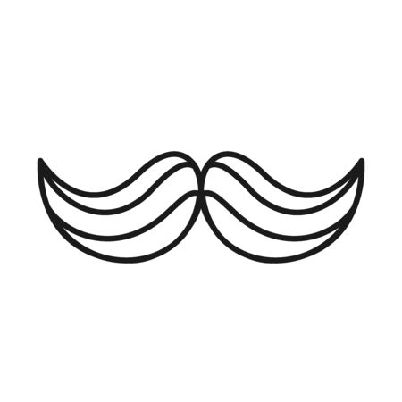 Mustache line style icon design, Gentleman man style face retro facial and fashion theme Vector illustration