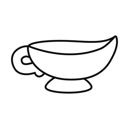 Eid mubarak teapot line style icon design, Islamic religion culture and belief theme Vector illustration