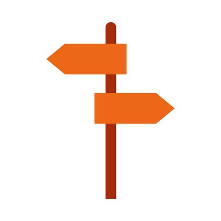 Road sign flat style icon design, Street message way information direction board transportation travel and guide theme illustration