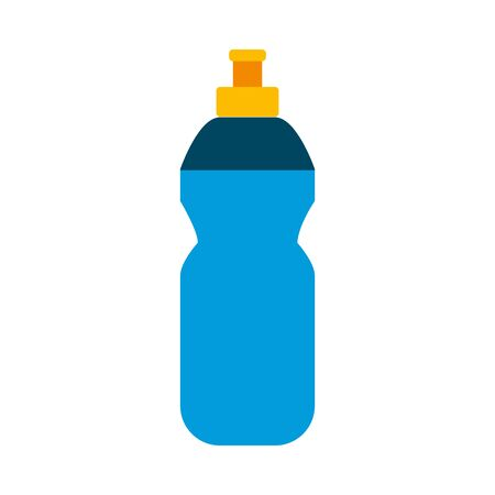 Water bottle flat style icon design, Drink beverage mineral liquid fresh natural healthy plastic container clear and cold theme Vector illustration