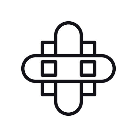 geometric and abstract cross line style icon design, shape and figure theme Vector illustration 일러스트