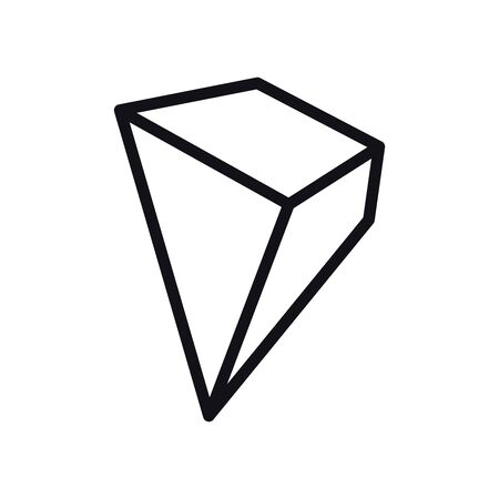 geometric and abstract 3d pyramid line style icon design, shape and figure theme Vector illustration