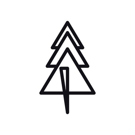 geometric and abstract pine tree line style icon design, shape and figure theme Vector illustration 일러스트