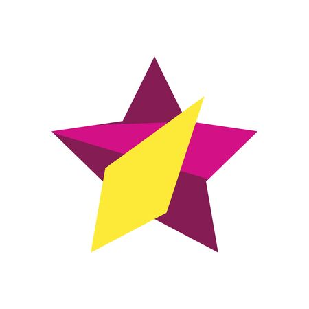 geometric and abstract star flat style icon design, and figure theme Vector illustration 일러스트