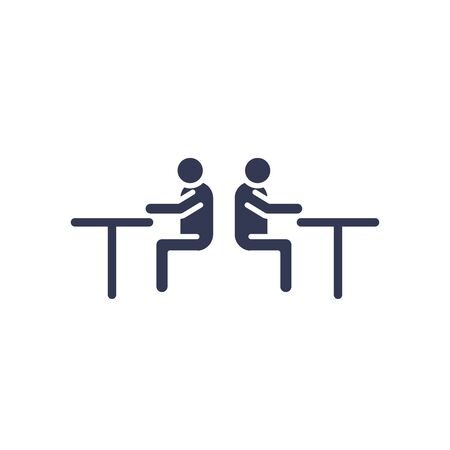 Avatars men on tables flat style icon design of Person profile social communication and human theme illustration