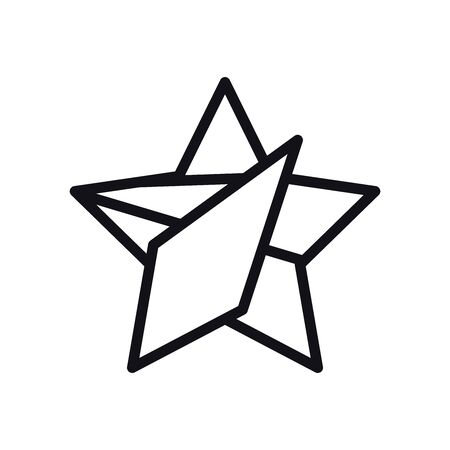 geometric and abstract star line style icon design, shape and figure theme illustration