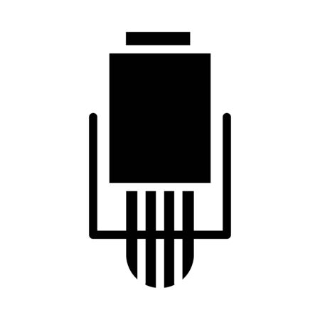 radio microphone hanging icon over white background, silhouette style, vector illustration Stock fotó - 150559699