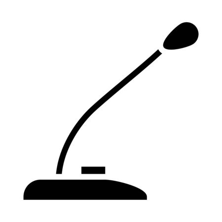 desk microphone icon over white background, silhouette style, vector illustration Stock fotó - 150559444