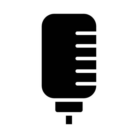 retro classic microphone icon over white background, silhouette style, vector illustration Stock fotó - 150559231