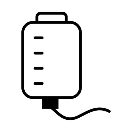 iv bag icon over white background, line style, vector illustration Ilustrace