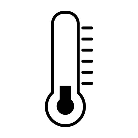 temperature thermometer icon over white background, line style, vector illustration Stock Illustratie