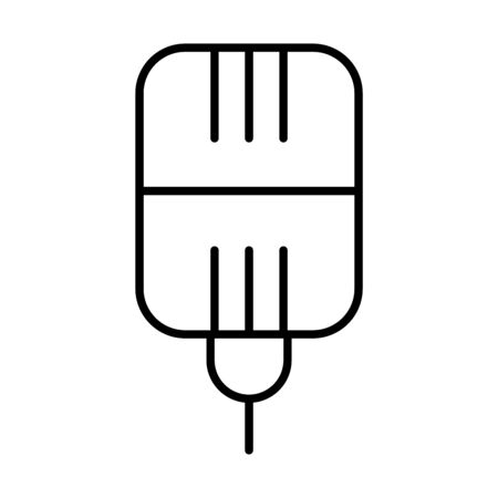 square mic icon over white background, line style, vector illustration Stock Illustratie