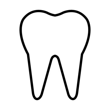 tooth icon over white background, line style, vector illustration Stock Illustratie