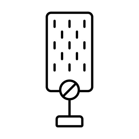 not voice symbol, microphone with forbidden sign icon over white background, line style, vector illustration
