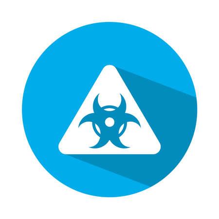 biohazard symbol icon over white background, block style, vector illustration