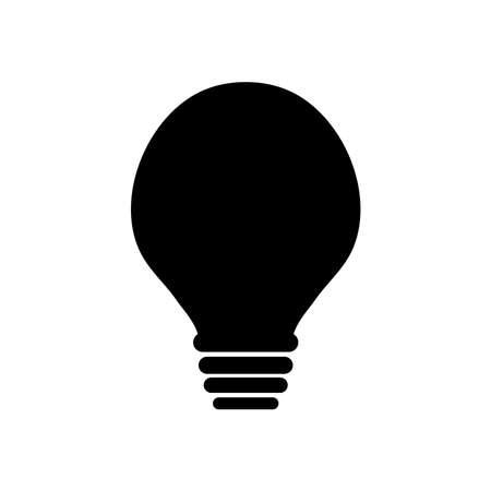 globe light bulb icon over white background, silhouette style, vector illustration Ilustração