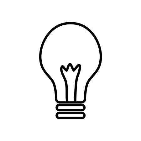 simple light bulb icon over white background, line style, vector illustration
