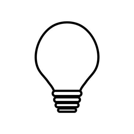 globe light bulb icon over white background, line style, vector illustration Ilustração