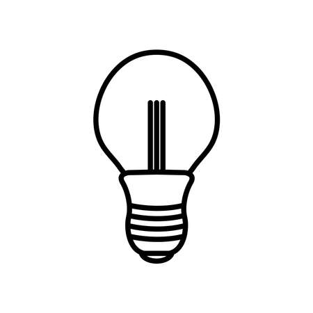 intermediate bulb light icon over white background, line style, vector illustration