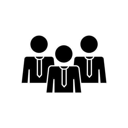 pictogram businessmen over white background, silhouette style, vector illustration