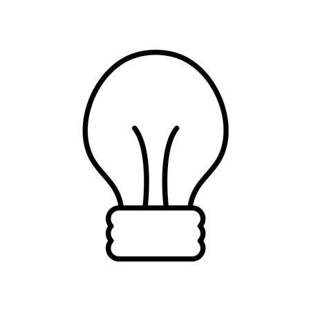 classic light bulb icon over white background, line style, vector illustration Ilustração