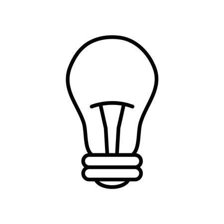 bulb light icon over white background, line style, vector illustration Ilustração