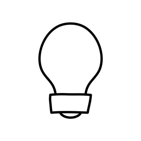classic bulb light icon over white background, line style, vector illustration