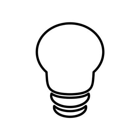 spot bulb light icon over white background, line style, vector illustration
