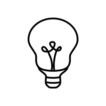 reflector bulb light icon over white background, line style, vector illustration