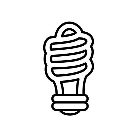 mini spiral bulb light icon over white background, line style, vector illustration Ilustração