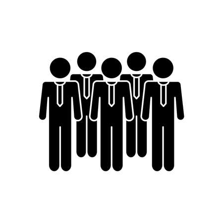 pictogram businessmen icon over white background, silhouette style, vector illustration