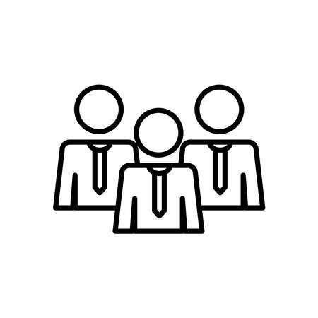 pictogram businessmen over white background, line style, vector illustration  イラスト・ベクター素材