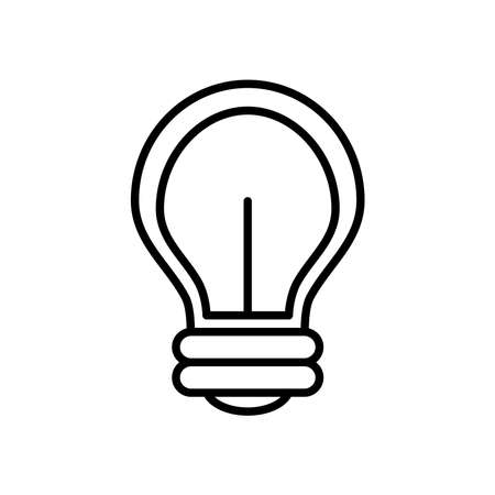 led light bulb icon over white background, line style, vector illustration
