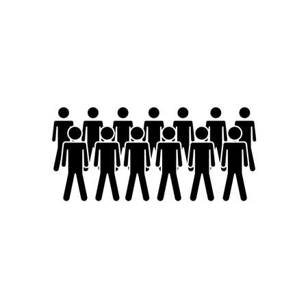 group of pictogram people over white background, silhouette style, vector illustration  イラスト・ベクター素材