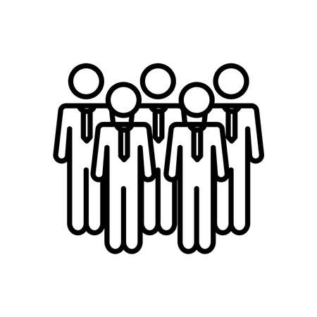 businessmen standing icon over white background, line style, vector illustration