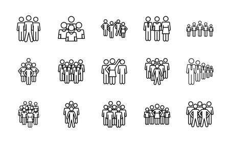 pictogram men and people icon set over white background, line style, vector illustration 向量圖像