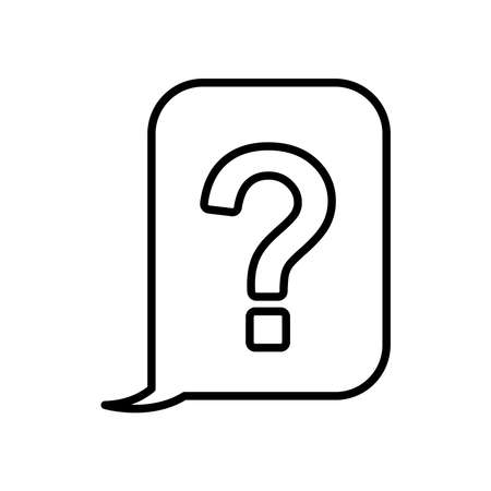speech bubble with question mark icon over white background, line style, vector illustration