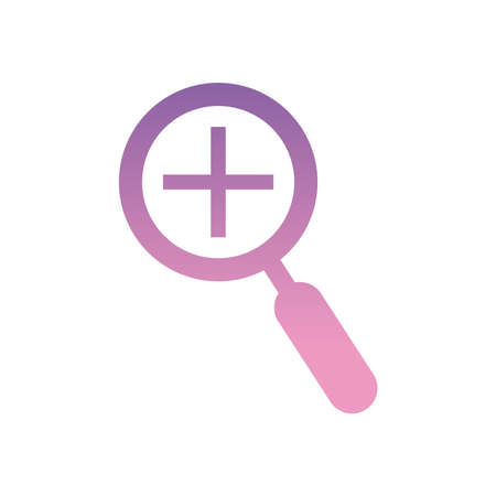 plus inside lupe gradient style icon design, Searching theme Vector illustration 矢量图像