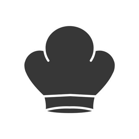 chef hat icon over white background, silhouette style, vector illustration 矢量图像