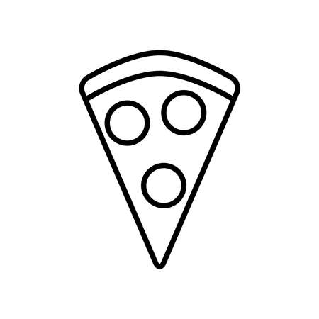 pizza slice icon over white background, line style, vector illustration