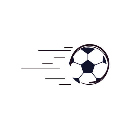 Ball line and fill style icon design, Soccer football sport hobby competition and game theme Vector illustration Stock Illustratie