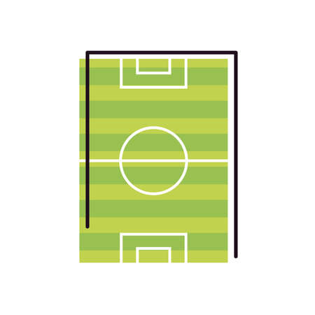 court line and fill style icon design, Soccer football sport hobby competition and game theme Vector illustration